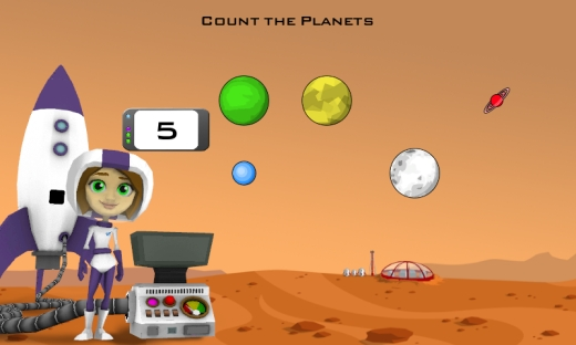 Counting with Mars Background